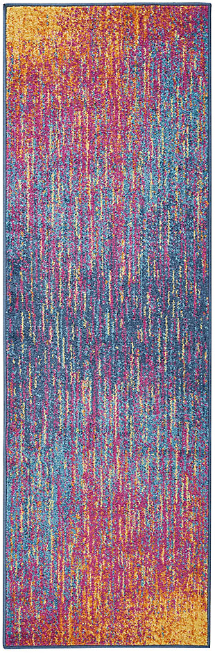 "Accessory Passion Multicolor 1'10"" x 6'Runner, Sunburst, rollover"