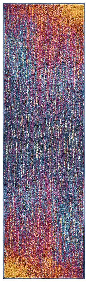 "Accessory Passion Multicolor 2'2"" x 7'6"" Runner, Sunburst, large"