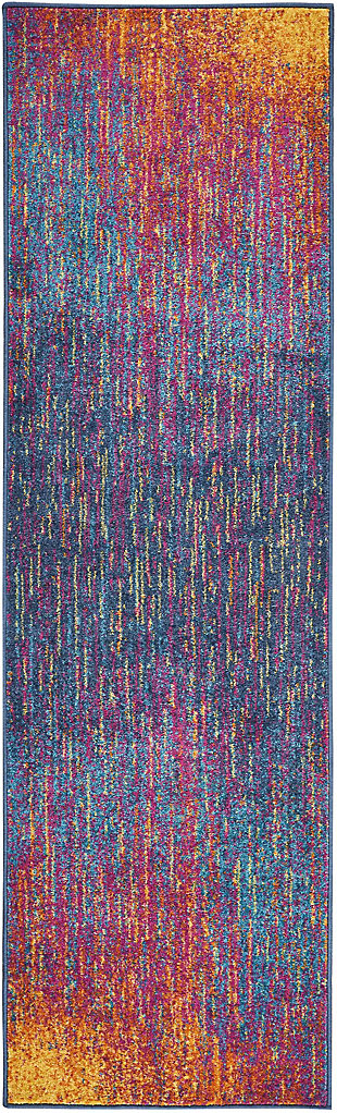 "Accessory Passion Multicolor 2'2"" x 7'6"" Runner, Sunburst, rollover"