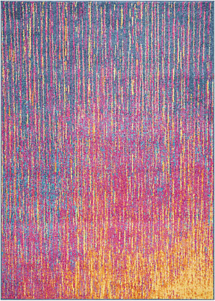 "Accessory Passion Multicolor 3'9"" x 5'9"" Area Rug, Sunburst, rollover"