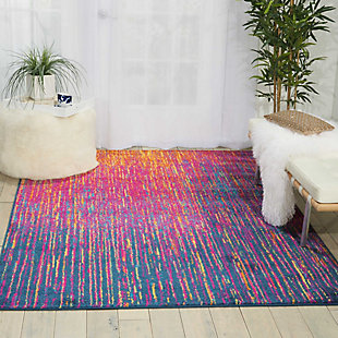 "Accessory Passion Multicolor 3'9"" x 5'9"" Area Rug, Sunburst, large"