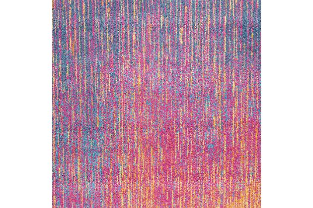 "Accessory Passion Multicolor 5'3"" x 7'3"" Area Rug, Sunburst, large"