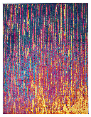 "Accessory Passion Multicolor 5'3"" x 7'3"" Area Rug, Sunburst, large"