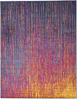 "Accessory Passion Multicolor 6'7"" x 9'6"" Area Rug, Sunburst, rollover"