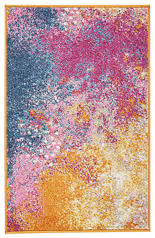 "Accessory Passion Sunburst 1'10"" x 2'10"" Accent Rug, Sunburst, large"