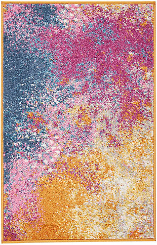 "Accessory Passion Sunburst 1'10"" x 2'10"" Accent Rug, Sunburst, rollover"