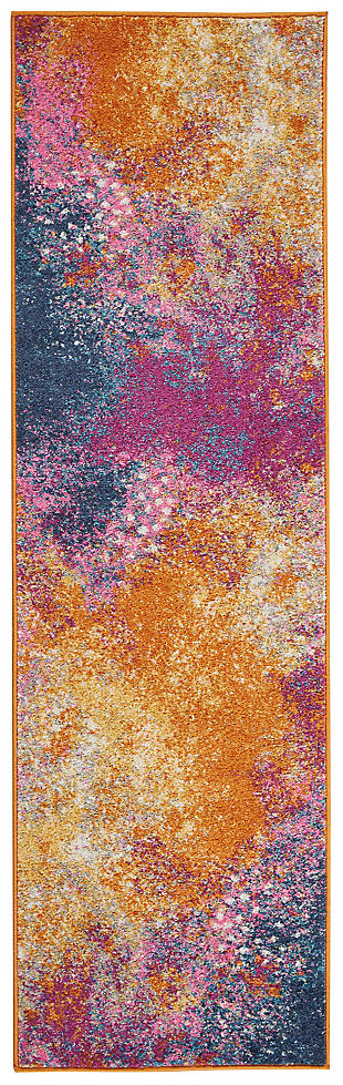 "Accessory Passion Sunburst 1'10"" x 6'Runner, Sunburst, large"