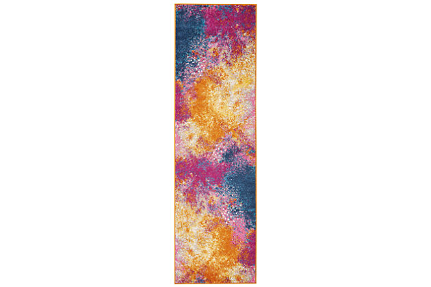 "Accessory Passion Sunburst 2'2"" x 7'6"" Runner, Sunburst, large"