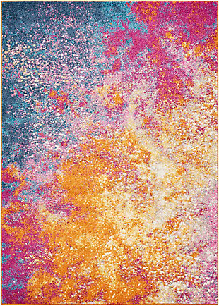 "Accessory Passion Sunburst 5'3"" x 7'3"" Area Rug, Sunburst, rollover"