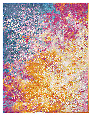 "Accessory Passion Sunburst 5'3"" x 7'3"" Area Rug, Sunburst, large"