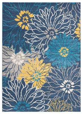 """Accessory Passion Blue 5'3"""" X 7'3"""" Area Rug, Ink, large"""