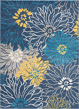 "Accessory Passion Blue 5'3"" x 7'3"" Area Rug, Ink, rollover"