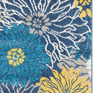 "Accessory Passion Blue 5'3"" x 7'3"" Area Rug, Ink, large"