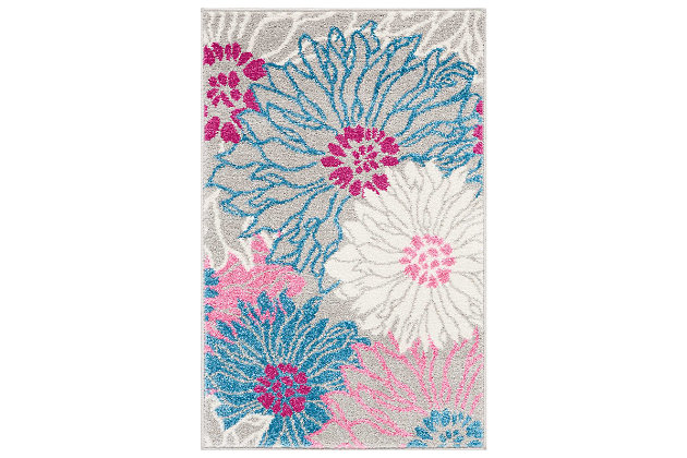"""Accessory Passion Grey 1'10"""" x 2'10"""" Accent Rug, Ash, large"""