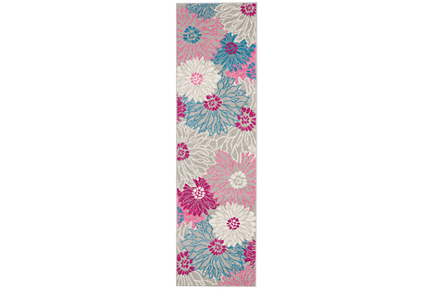 """Accessory Passion Grey 2'2"""" x 7'6"""" Runner, Ash, large"""