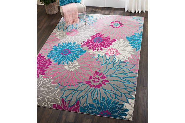 """Accessory Passion Grey 6'7"""" x 9'6"""" Area Rug, Ash, large"""