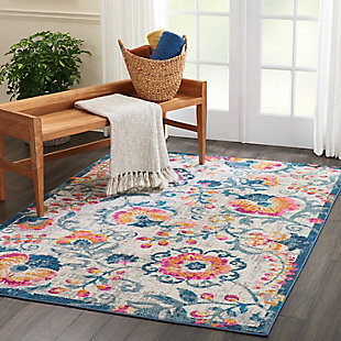 "Accessory Passion Ivory 5'3"" x 7'3"" Area Rug, Ivory, large"