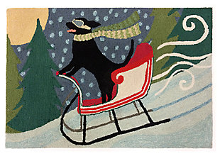 "Decorative Liora Manne Whimsy Sleigh Ride Indoor/Outdoor Rug 20"" x 30"", Multi, large"