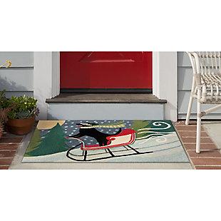 "Decorative Liora Manne Whimsy Sleigh Ride Indoor/Outdoor Rug 20"" x 30"", Multi, rollover"