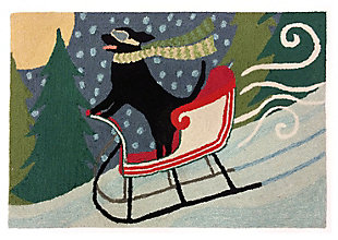 """Decorative Liora Manne Whimsy Sleigh Ride Indoor/Outdoor Rug 20"""" x 30"""", Multi, large"""