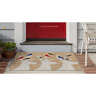 Decorative Liora Manne Whimsy Holiday Friends Indoor/Outdoor Rug, Natural, rollover