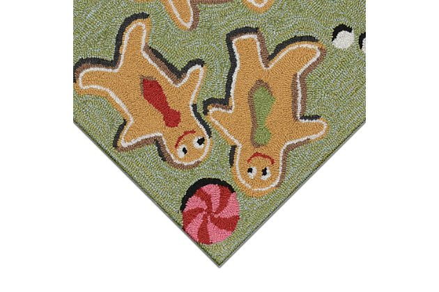 "Decorative Liora Manne Whimsy Xmas Goodies Indoor/Outdoor Rug 20"" x 30"", Multi, large"