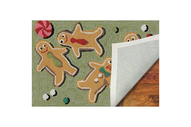 """Decorative Liora Manne Whimsy Xmas Goodies Indoor/Outdoor Rug 20"""" x 30"""", Multi, large"""
