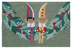 "Decorative Liora Manne Pixie Helpers Indoor/Outdoor Rug 20"" x 30"", Green, large"