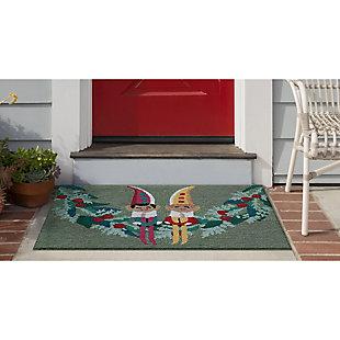 """Decorative Liora Manne Pixie Helpers Indoor/Outdoor Rug 20"""" x 30"""", Green, rollover"""