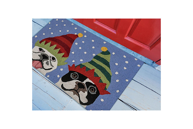 """Decorative Liora Manne Whimsy Winter Buds Indoor/Outdoor Rug 20"""" x 30"""", Blue, large"""