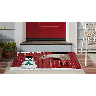 "Decorative Liora Manne Country Winter Indoor/Outdoor Rug 20"" x 30"", Red, rollover"