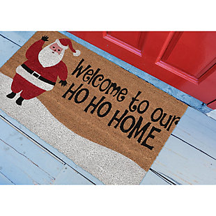 "Decorative Liora Manne Terrene Xmas Welcome Outdoor Mat 18"" x 30"", , rollover"