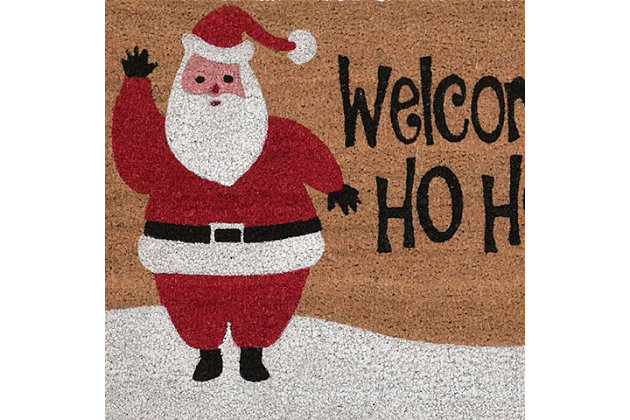 """Decorative Liora Manne Terrene Xmas Welcome Outdoor Mat 18"""" x 30"""", , large"""