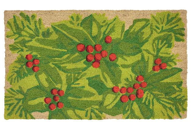 "Decorative Liora Manne Terrene Winter Leaves Outdoor Mat 18"" x 30"", , large"