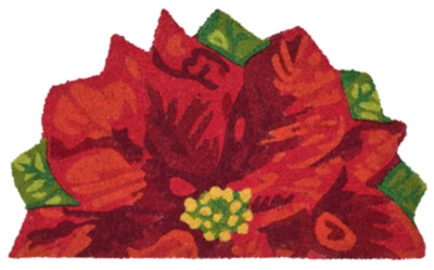 """Decorative Liora Manne Holiday Bloom Indoor/Outdoor Rug 20"""" x 30"""", Red, large"""