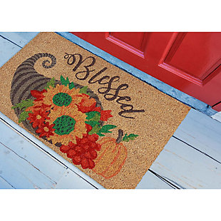 "Decorative Liora Manne Terrene Thankful Bounty Outdoor Mat 18"" x 30"", , rollover"
