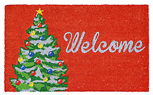 "Decorative Liora Manne Terrene Holiday Greetings Outdoor Mat 18"" x 30"", , large"