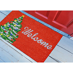 "Decorative Liora Manne Terrene Holiday Greetings Outdoor Mat 18"" x 30"", , rollover"