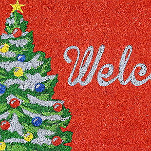 """Decorative Liora Manne Terrene Holiday Greetings Outdoor Mat 18"""" x 30"""", , large"""