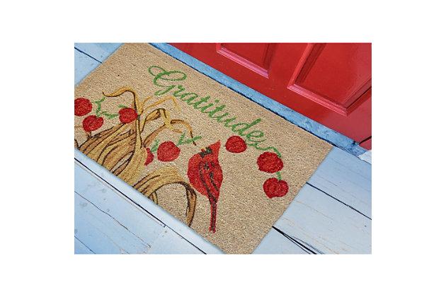 "Decorative Liora Manne Terrene Thanks Outdoor Mat 18"" x 30"", , large"