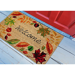 "Decorative Liora Manne Terrene Autumn Welcome Outdoor Mat 18"" x 30"", , rollover"