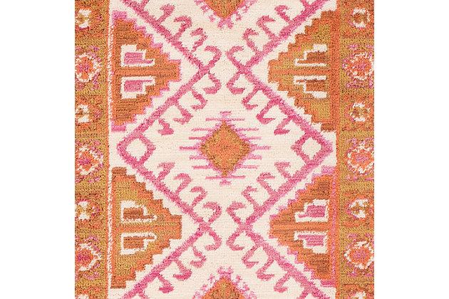 Kids Area Rug 2' x 3', Camel/Pink/Burnt Orange, large