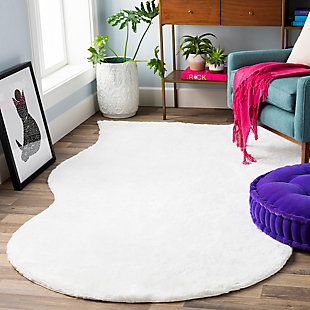 "Kids Area Rug 5' x 7'6"", White, rollover"