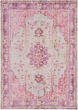 Kids Area Rug 6'7 x 8'10, Lavender/Pink/Ash Gray, large