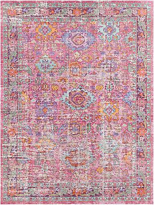 Kids Area Rug 3'11 x 5'9, Pink/Lavender/White, large
