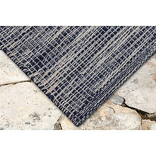 "Home Accents 5' x 7'6"" Indoor/Outdoor Rug, Blue, rollover"