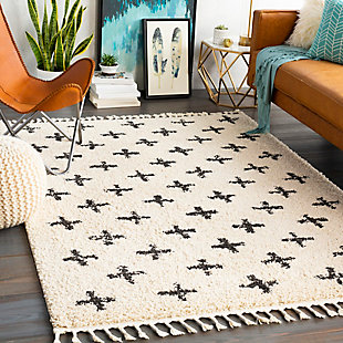 "Kids Area Rug 3'11"" x 5'7"", Charcoal/Beige, rollover"