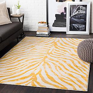 Kids Area Rug 2' x 3', Mustard/Khaki, rollover