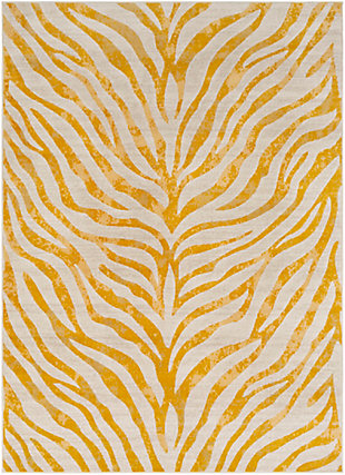 Kids Area Rug 5'3 x 7'3, Mustard/Khaki, large