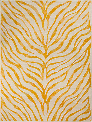 "Kids Area Rug 7'10"" x 10'3"", Mustard/Khaki, large"
